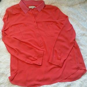 Loft pop over blouse